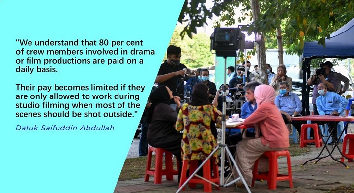 SOPs for filming activities, live events to be proposed to MKN Monday – Saifuddin Abdullah