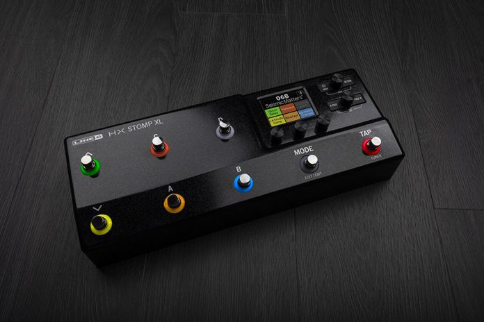 Line 6 HX Stomp XL Amp & Effects Processor Provides Eight Footswitches for Expanded Control