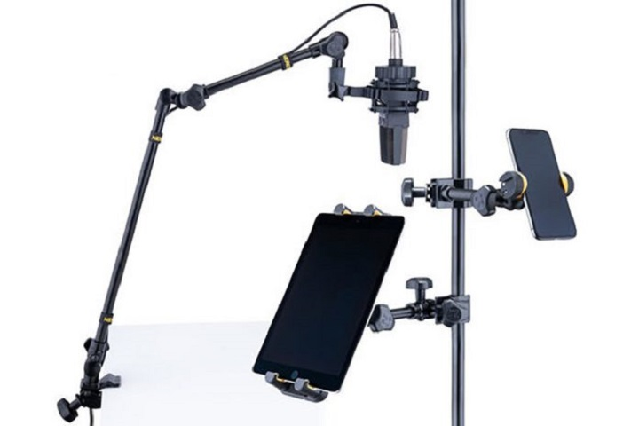 Hercules Stands New Ultimate Phone, Tablet, and Mic / Camera Stand